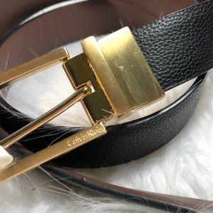 NWT Calvin Klein reversible leather belt large